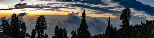 changla gali murree galyat pakistan north mountains shades sunset