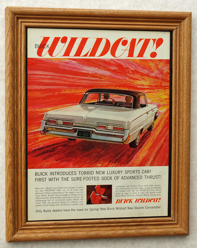 CM032 1962 Buick Wildcat Car Ad Framed DSC04431