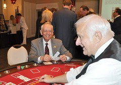 Even Gene Hirsch, the club's photographer, got a chance to play blackjack.