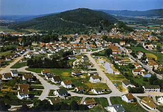 Les nouveaux quartiers résidentiels à Orgelet, dans les années1980
