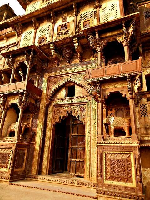 INDIEN, india- historisches Orchha, Raja Mahal-Fort und Jahangir Mahal- Palast, 14090/6949