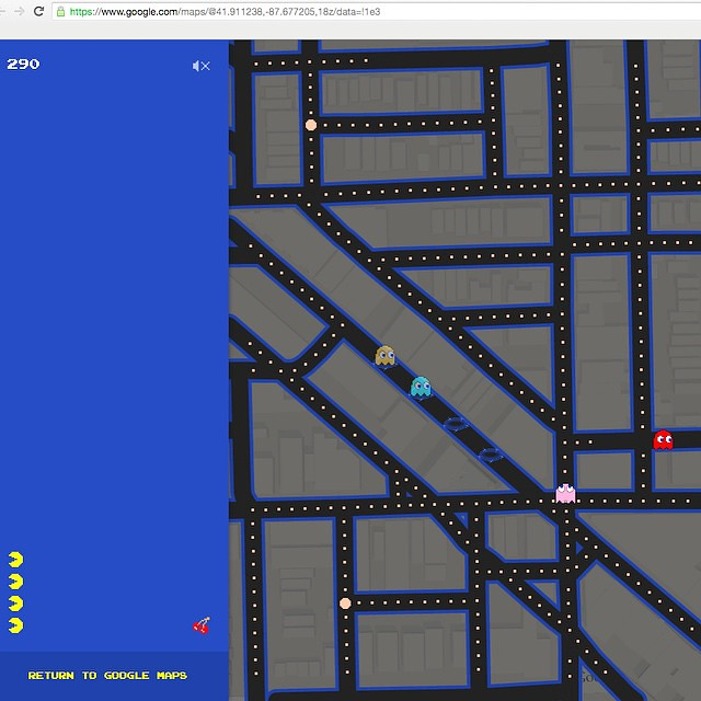 I found a Pac Man Game on maps.google.com, Easter Egg find ...