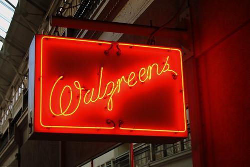 Walgreens neon sign - Nashville Arcade