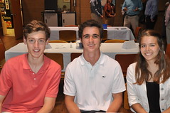 3 Sanderson HS Juniors: Vince Friedman, Bennett Northcutt & Leah Voires recently attended RYLA (Rotary Youth Leadershop Award) Conference.