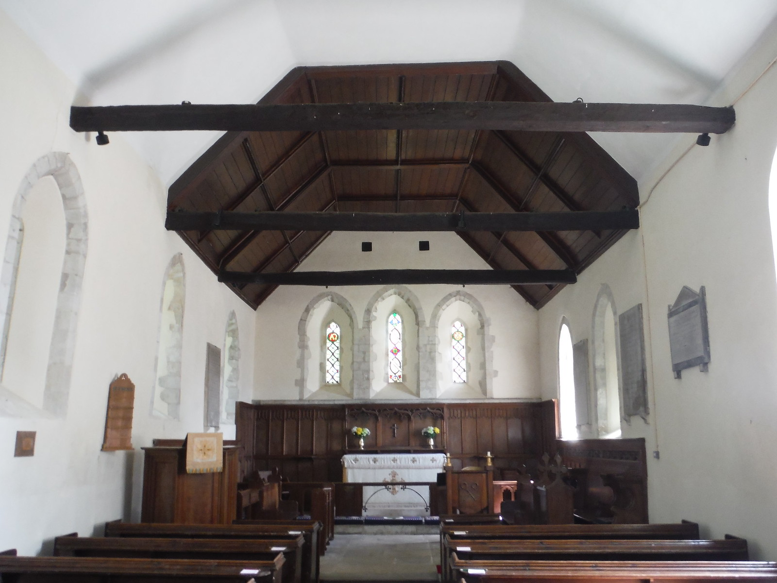 Interior of St. Peter's, East Marden SWC Walk Rowlands Castle Circular