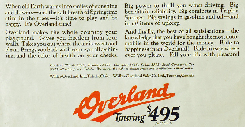 CM052 Overland Car Ad 1924 Framed DSC04125 crop