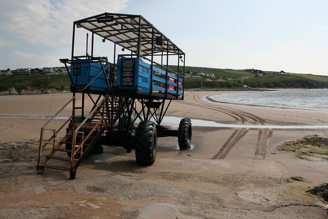 Burgh Island sea tractor