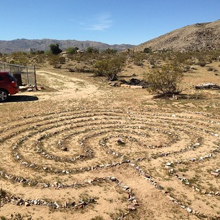 The labyrinth at Gerry's place in Joshua Tree. So many labyrinths today. | by Rich_Lem