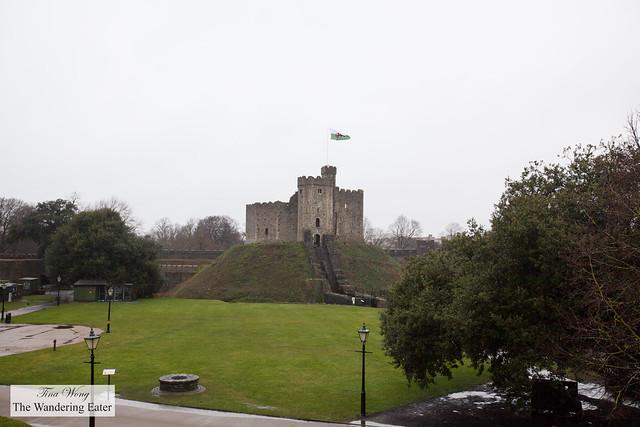 Old Original Roman castle of Cardiff Castle