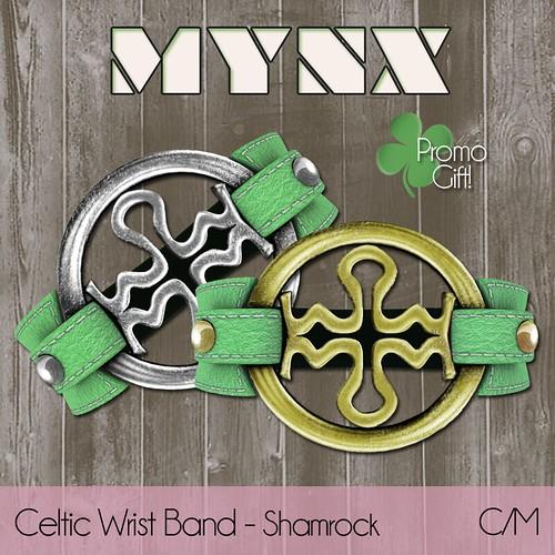 {MYNX} Celtic Wrist Band - Shamrock