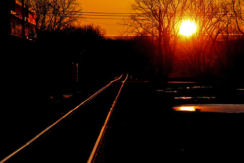 sun sunrise railroadtracks sunandclouds sunrisephotography