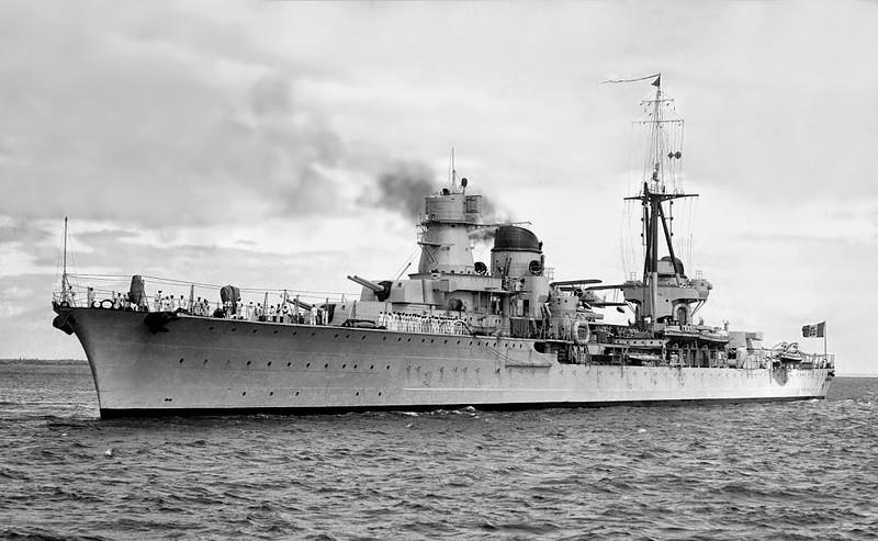 雷蒙Montecuccoli是雇佣军流的轻巡洋舰