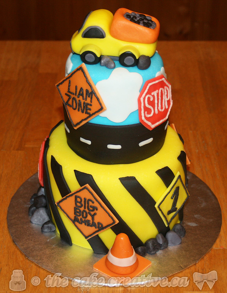 Admirable Construction Themed Birthday Cake Vanilla Cake With Chocol Flickr Funny Birthday Cards Online Elaedamsfinfo