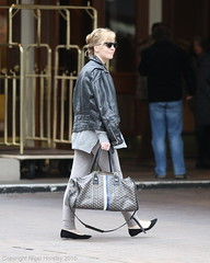 Melissa George, with Goyard monogram travel tote, Vancouver, March 24 2015  6