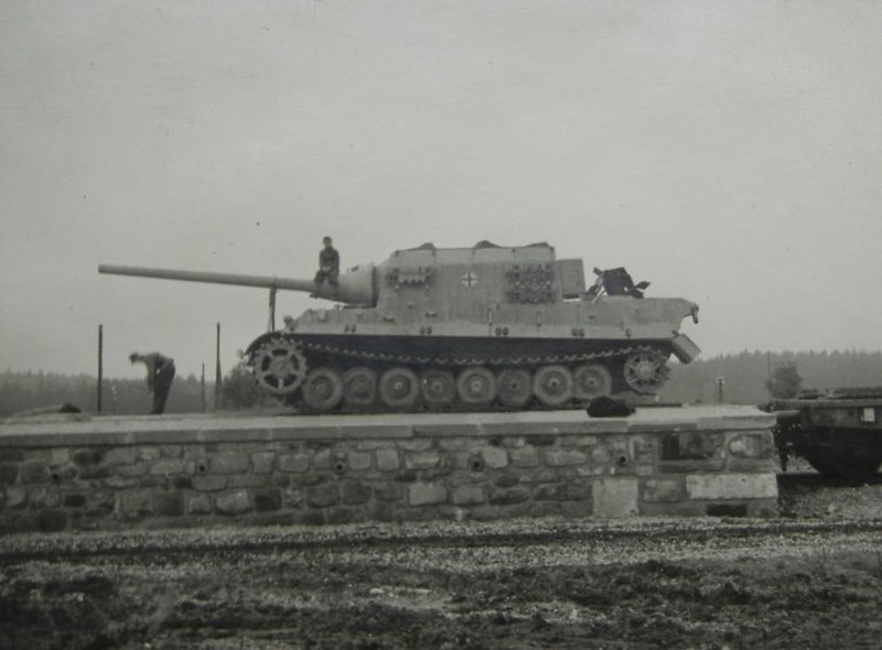 Original photo of a Jagdtiger ready for transport.