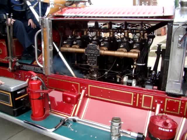 Firing the old 1928 Ahrens Fox