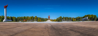 Grand Monument at Lake Samji, Samjiyon | by reubenteo