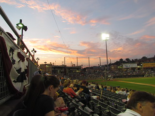 Sunset at Appalachian Power Park -- Charleston, WV, May 28, 2016
