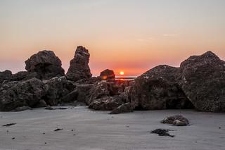 Westshore Standing stones Sunset