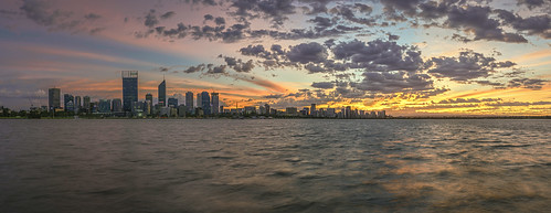 city sky panorama water skyline clouds photoshop sunrise dawn scenery cityscape sony scenic australia alpha tamron westernaustralia swanriver daybreak foreshore southperth 2470mm a99 cityofperth slta99 stevekphotography