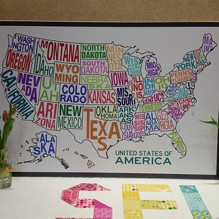 Loving  the @dritz_sewing map pins to show where folks are from. All the way from California!  #sewsouth