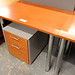 Cherry study desk with chrome legs