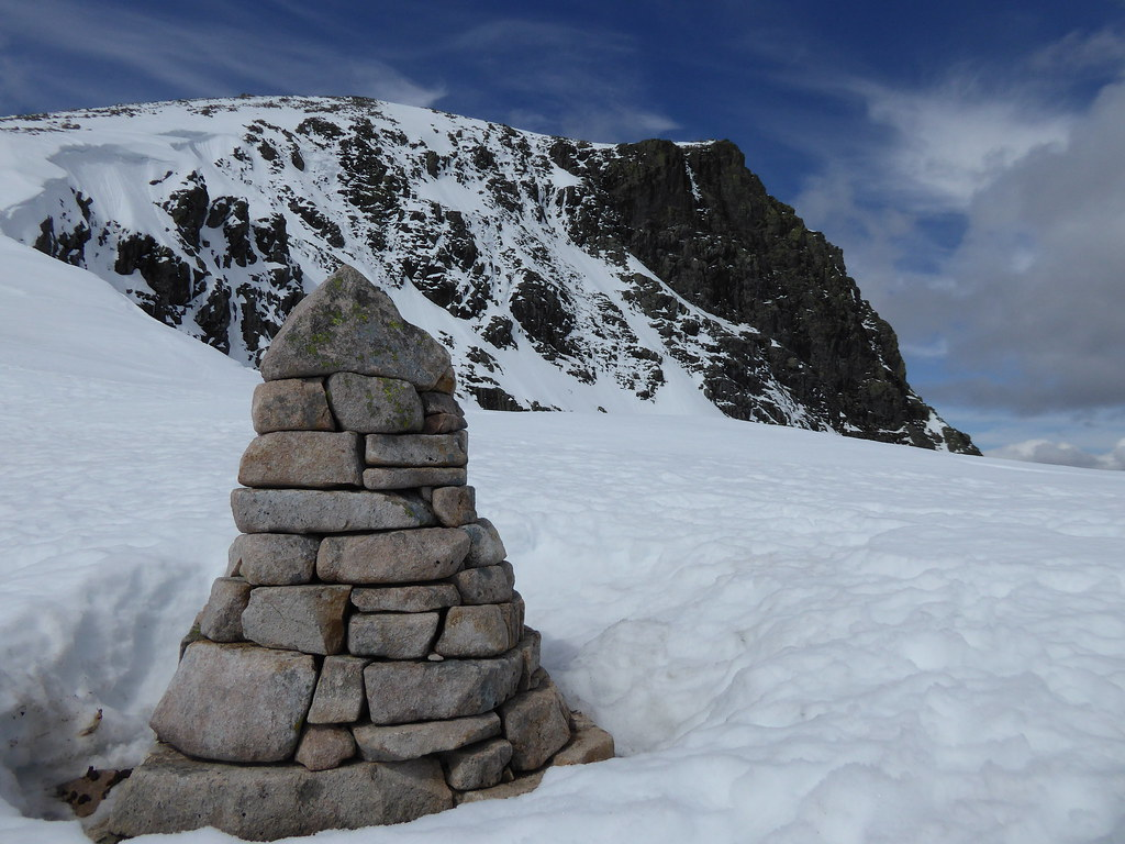 Cairn with Ben Nevis in the background