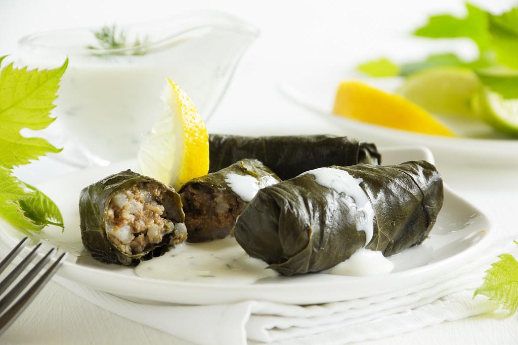 dolma, stuffed grape leaves, turkish and greek cuisine   Flickr
