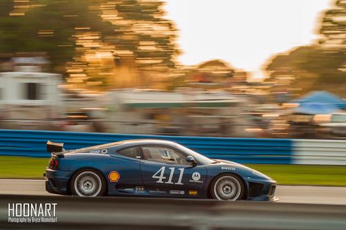 sunset florida ferrari challenge goldenhour f430 historics 2015 12hoursofsebring sebring12 hoonart