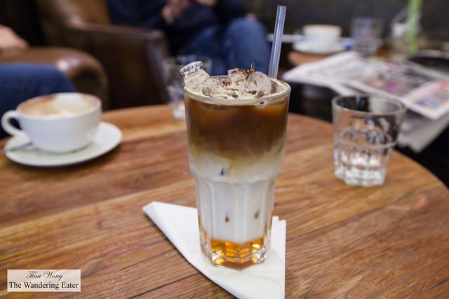 Katie's iced caramel latte