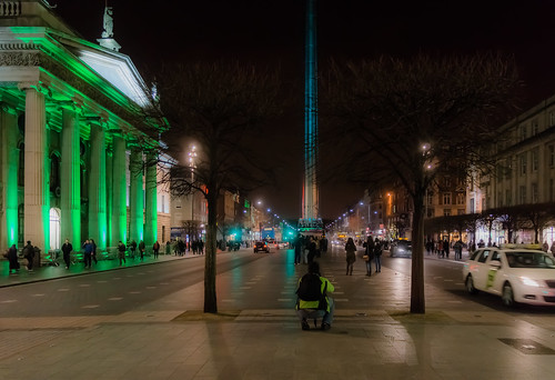 ST. PATRICK'S SPIRE OF LIGHT ON O'CONNELL STREET IN DUBLIN REF-102056 | by infomatique