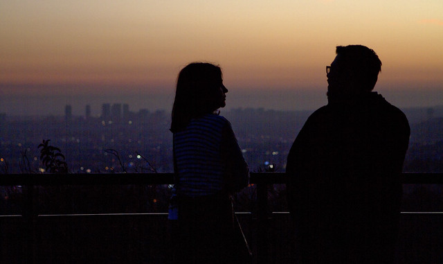 Maite and Jason at Griffith Observatory (2015)