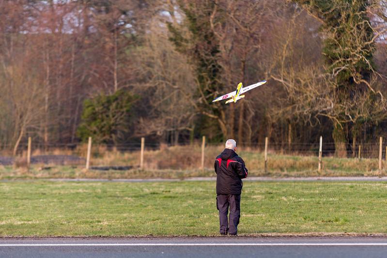Cecil launching the AeroStar.