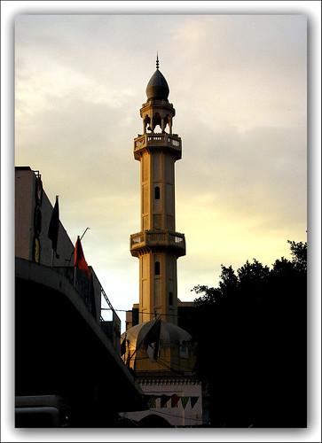sunset sun algeria mosque algerie blida البليدة الجزائر