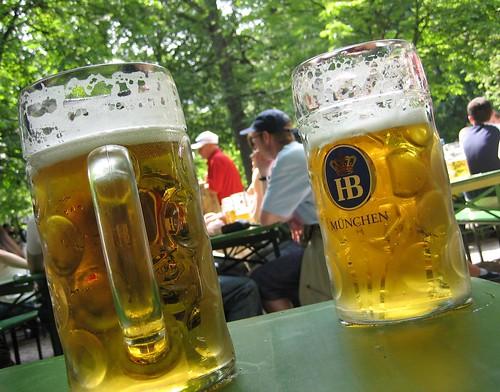 Beer in Englischer Garten, Munich, 17/6/06