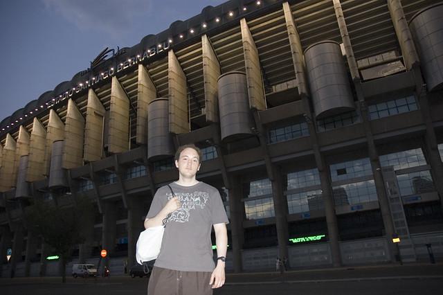 Outside Bernabeu Stadium
