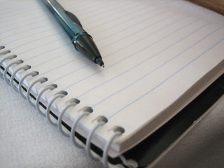 Because I'm old-school (aka laptop-less), I took notes with pencil and paper at Blogher | by itselea