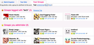 Flickr Groups Organiser - GM Script - Lets you tag and organise your groups | by steeev