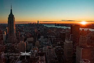 Sunset over Lower Manhattan from 51st floor | by Gus Cantavero Film & Images