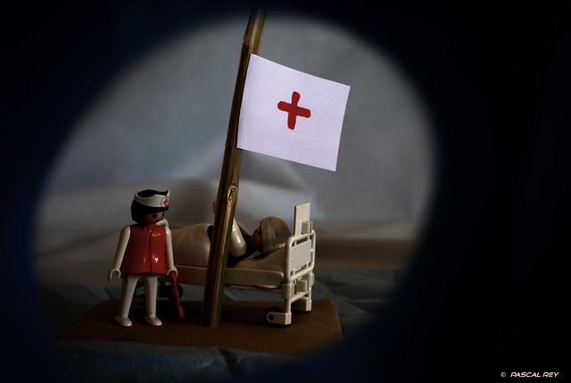 The nurse send a S.O.S.