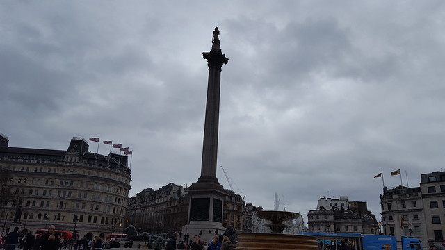 Nelson's Column, William Railton (Architect), Trafalgar Square, Westminster, London
