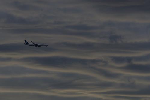 morning sky weather clouds plane sunrise waves sydney australia nsw newsouthwales cloudformation nikond7000
