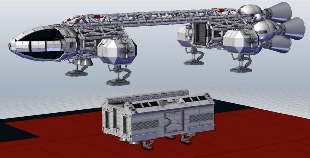 Eagle transporter - MLCAD + Solidworks - Space 1999 | Flickr