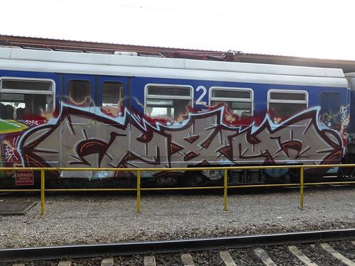 Zagreb train graffiti | by duncan
