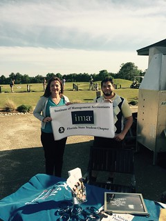 Second Judicial Circuit Guardian ad Litem Program Circuit Director Deborah Moore and a representative of the Institute of Management Accountants (IMA) Florida State University Student Chapter at their IMA Golf Driving Range Fundraiser on April 9, 2016. | by flguardian2