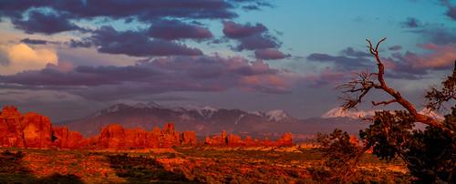 sunset nature landscape desert ngc archesnationalpark