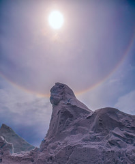 Solar Halo Over Antarctica