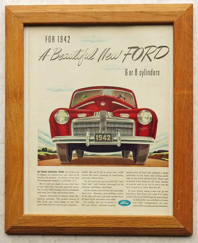 CM030 1942 Ford Car Ad Framed DSC04164