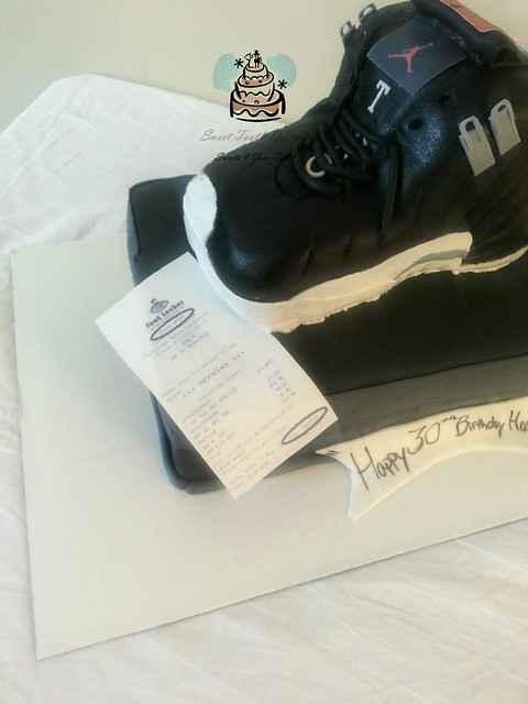 Jordan Shoe and Shoe Box Birthday Cake