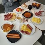 •Breakfasts at #IKEA•  Hotsilog, Hotcakes, Scrambled eggs and more bacoooooon~ #IKEAQatar